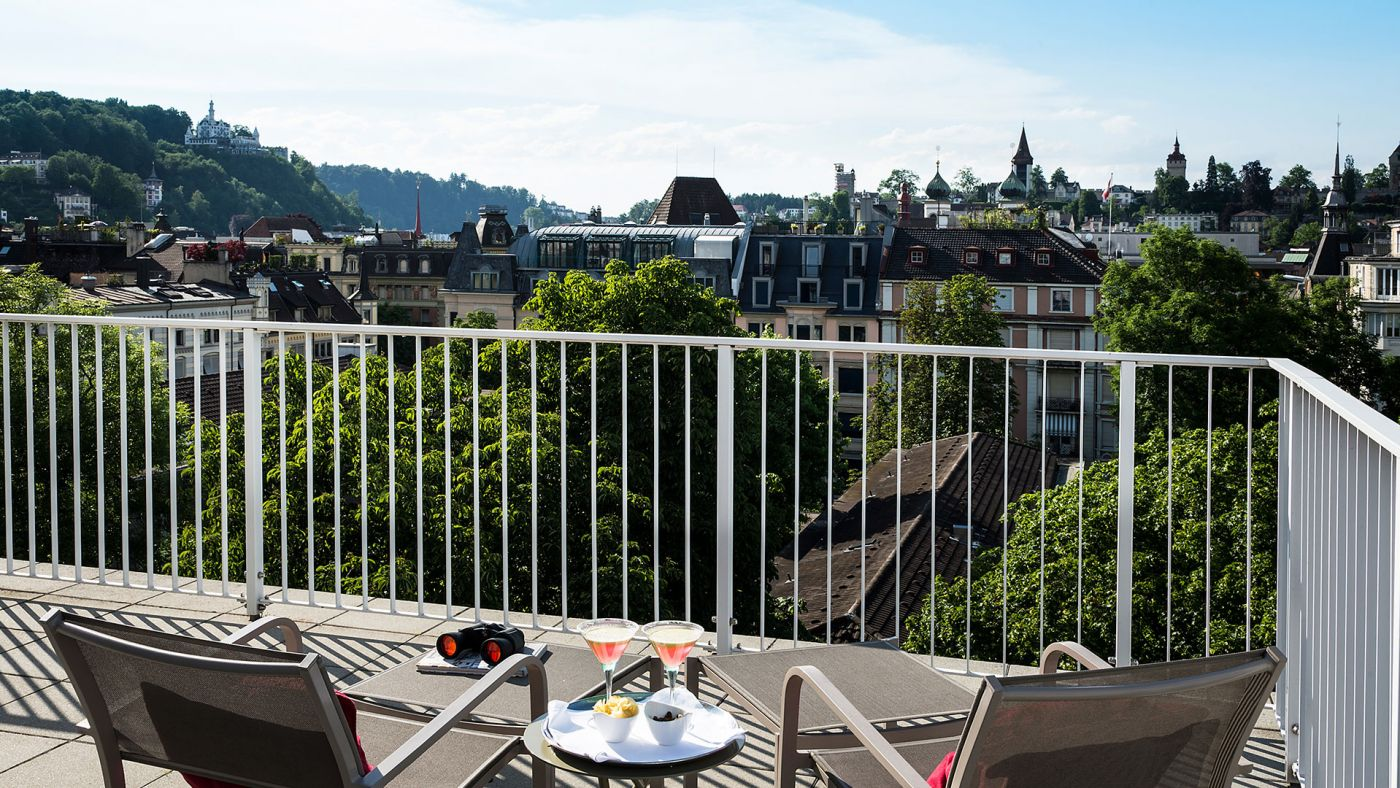Penthouse Suite The Hotel Dachterrasse